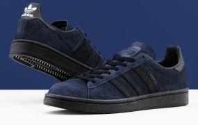 KICKS LAB在其adidas校园合作中采用高级海军绒面革