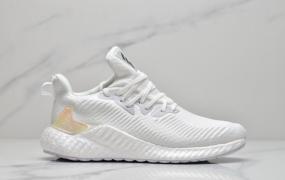 Adidas阿迪达斯 Alphaboost 阿尔法巴斯夫爆米花 跑鞋