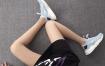 Nike Air Huarache 847568-403 芋蓝 华莱士4代网面 模特上脚图