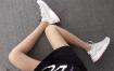 Nike Air Huarache 847568-060 灰蓝红 华莱士4代网面 模特上脚图