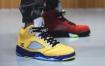 """乔丹Air Jordan 5实战篮球鞋新配色"""" What The""""的现场照片"""