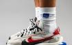 sacai x 耐克 Nike Royal和Red的VaporWaffle的现场照片