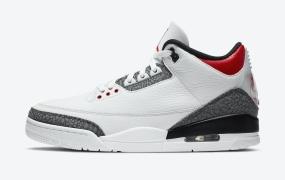 """乔丹 Air Jordan 3 SE Denim"""" Fire Red""""的官方照片"""