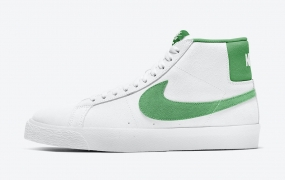 耐克 Nike SB Blazer中底配绿色麂皮绒