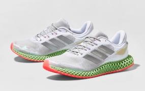 阿迪达斯 adidas 4D Run 1.0配粉红色鞋底