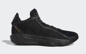 adidas Dame 6黑色绒面革和皮革发布
