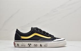 万斯女鞋style36 黑金手工涂鸦帆布鞋半月包头复古铜扣板鞋男型号:SX61