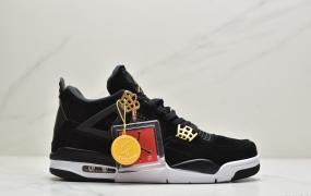 "Air Jordan 4 ""Royalty""黑金此款乔4黑金无论是材质选用还是色调搭配"