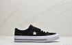 """经典匡威一星""""One Star """"款式,鞋面采用反毛皮材质,自然优雅 搭配标志性的One Star Logo"""