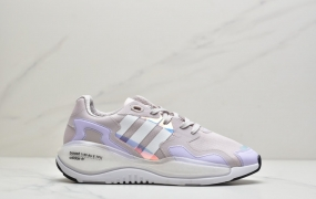 阿迪达斯 Adidas originals ZX ALKYNE Boost 易烊千玺同款 真爆 爆米花底 缓震跑步鞋 白灰 镭射 3M反光