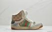 Gucci Distressed leather sneaker经典原型复古百搭做旧老爹板鞋
