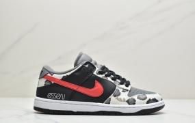 耐克 Nike SB Dunk Low 黑红奶牛 扣篮系列复古低帮休闲运动滑板板鞋