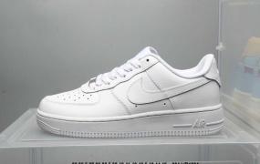 耐克 Nike Air Force 1 07 空军一号经典纯白低帮板鞋 2019二维码鞋标