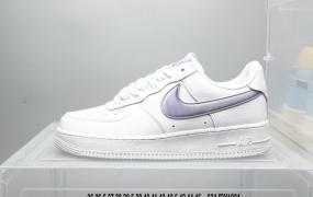 耐克 Nike Air Force 1 Low 炫蓝 镭射 大钩 整鞋大面积使用白色作为主色调