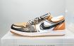 耐克 Nike Air Jordan 1 Low手绘玛卡龙冰淇淋双色 二次元画风勾勒出鞋身,整体手绘风格 当季粉嫩配色加持
