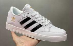 Adidas Hardcourt Low三叶草官方同步上架全新经典复古板鞋 男女潮流头层皮休闲鞋