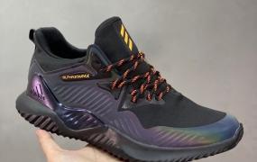 adidas AlphaBOUNCE M 阿尔法 高弹马牌鲨鱼鳃纹大底休闲运动慢跑鞋