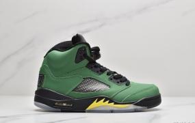 """耐克Nike Air Jordan 5 SE"""" Oregon Ducks""""""""鸭子俄勒冈红3M鞋舌""""AJ5代中帮复古休闲文化篮球鞋"""