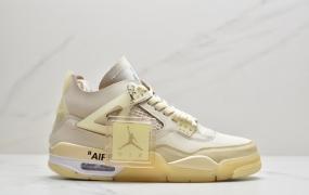 OFF-WHITE x Air Jordan 4 SP WMNS米白