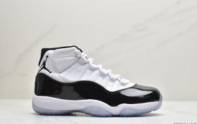 """耐克Air Jordan 11 25th Anniversary""""Concord""""AJ11代 康扣 迈克尔·乔丹高帮运动文化篮球鞋"""