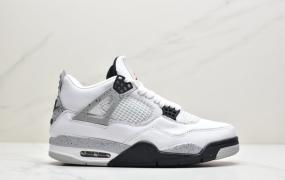 "Air Jordan 4 Retro""White/Cement""AJ4代中帮复古休闲运动文化篮球鞋"