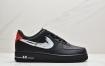 耐克Nike Air Force 1 Low 黑白笔刷涂鸦手稿 空军一号低帮百搭休闲运动板鞋
