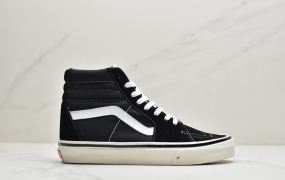 万斯VANS安纳海姆Sk8-Hi黑白高经典款男女情侣帆布鞋板鞋ID:JZD006-PJR