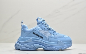 Balenciaga Sneaker Tess.S.Gomma ResilleDoubl/Tissu Doub/Nubuc Letter Plum Red 巴黎世家 老爹鞋