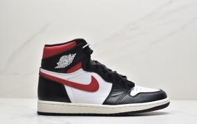"Air Jordan 1 Retro ""Black Gym Red""红钩黑脚趾2019款 中帮篮球鞋"
