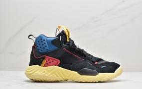 "Union LA x Air Jordan Delta React Mid""Off Noir""乔丹代尔塔解构瑞亚泡棉中帮系列机能运动慢跑鞋"