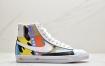 耐克Nike 插画师Ruohan Wang x Nike Blazer Mid ' 77 Flyleather QS开拓者高帮休闲运动板鞋