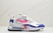 """耐克Nike Air Max 270 React QP """"White/Light Blue""""270瑞亚赛车系列后半掌气垫百搭运动慢跑鞋"""
