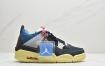 "Union LA x  Air Jordan 4 Retro SP""Off Noir"" 骑士黑蓝红棕黄 迈克尔·乔丹AJ4代中帮复古休闲运动文化篮球鞋"