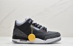 """耐克Nike Air Jordan 3 Retro OG""""Black Cement""""迈克尔·乔丹AJ3代中帮复古休闲运动文化篮球鞋"""