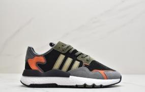 Adidas 阿迪达斯Nite Jogger Boost 夜行者 爆米花大底复古跑鞋