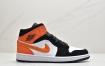 Air Jordan 1 Mid AJ1 乔一黑白橙扣碎篮板 中帮系列休闲板鞋ID:JHD259-PZG