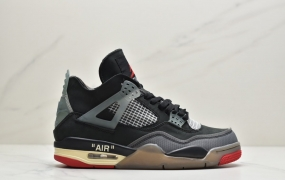 "Off-White™ x Air Jordan 4 ""Cream/Sail""""OW 联名荧光粉 AJ4 乔丹4代 文化篮球鞋"