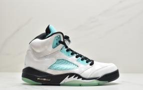 "Air Jordan 5 ""Island Green""3M雪豹 AJ 5中帮实战篮球鞋"