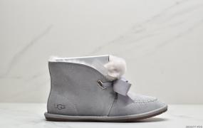 UGG W Kallen Lace 2020凯琳蝴蝶结系带系列冬季羊毛一体雪地平底短靴