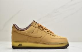 """耐克Nike Air Force 1 CO.JP Retro SP""""Wheat Mocha""""空军一号低帮经典百搭休闲运动板鞋""""麦黄摩卡半透明"""""""