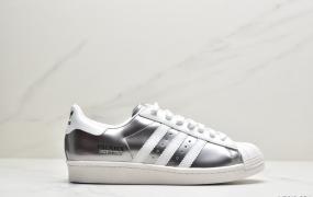 "Prada x adidas Superstar 80s""White/Black""贝壳头经典百搭休闲运动板鞋"