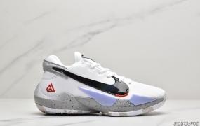 """耐克Nike Zoom Freak 2″Black/White/Ice Blue""""二代字母哥""""黑白大钩橙冰蓝""""运动篮球鞋"""