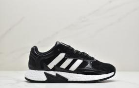 Adidas 阿迪达斯 Tresc Run Boost 火焰 真爆米花复古休闲运动跑步鞋