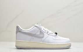 "Nike Air Force 1 '07 Premium ""Toll Free"" 空军一号白灰运动板鞋"