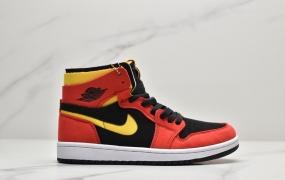 """乔丹 Air Jordan 1 Zoom CMFT """"Chile Red""""黑红 AJ1中帮篮球鞋"""