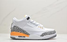 """乔丹Air Jordan 3 """"Laser Orange""""湖人 中帮文化篮球鞋"""