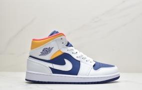 乔丹 Air Jordan 1 Mid GS AJ1乔1中帮文化篮球鞋 头层皮
