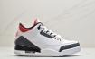 """乔丹Air Jordan 3 Retro """"Fire Red""""单宁火焰红 白水泥爆裂纹AJ3文化篮球鞋"""