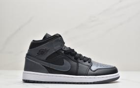 """乔丹Air Jordan 1 Mid """"Dark Grey""""小影子灰aj1中帮篮球鞋"""