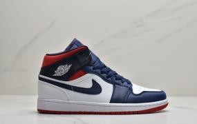 乔丹 Air Jordan 1 Mid 美国配色 aj1中帮篮球鞋